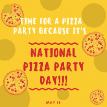 Pizza Party Day is May 18!
