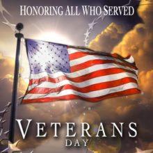 Friday, November 11 is  Veterans Day