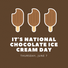 Chocolate Ice Cream Day is June 7!