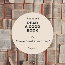 National Book Lovers Day is August 9.