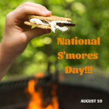 National S'mores Day is August 10